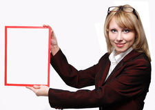 Business Woman - Banner Add Royalty Free Stock Photos