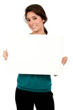 Business woman - banner add Stock Photo