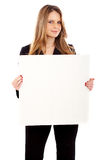 Business woman - banner add Royalty Free Stock Image