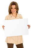 Business woman - banner add Stock Image