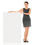 Business woman with a banner Stock Images