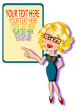 Business woman and banner Royalty Free Stock Image