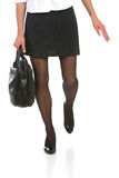 Business lady in a rush Stock Images