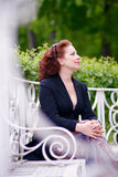 The business woman on a bench Royalty Free Stock Images
