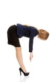 Business woman bend down Stock Image