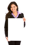 Business woman billboard Stock Images