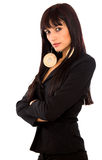 Business woman in black Stock Photos
