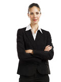 Business woman black suit 1. A nice looking Business woman looking confident Royalty Free Stock Image