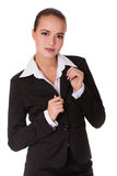 Business woman in black suit Stock Photography