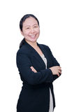 Business woman in black suit Stock Photo