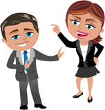 Business Woman Blaming Her Colleague stock illustration