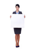 Business woman with blank board Stock Photography