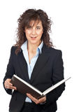 Business woman with book Royalty Free Stock Images