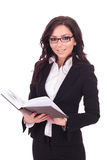 Business woman with a book Stock Photography
