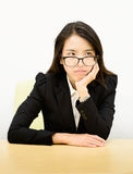 Business woman boring Stock Images