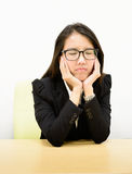 Business woman boring Royalty Free Stock Image