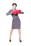 Business woman boxing Stock Photos