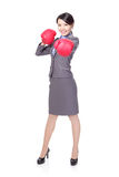 Business woman boxing, punching Royalty Free Stock Photography