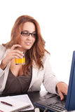 Business woman without break time Royalty Free Stock Photos