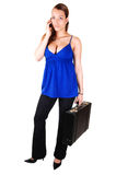Business woman with brief-case. Stock Photography