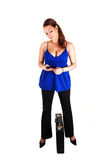 Business woman with brief-case. Royalty Free Stock Photography