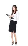 Business woman with a briefcase. Stock Photography