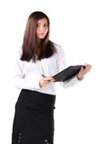 business woman with a briefcase. Royalty Free Stock Photography