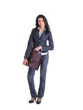 Business woman with briefcase Royalty Free Stock Photos