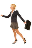 Business woman with briefcase Stock Photos