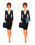 Business woman with briefcase Royalty Free Stock Photography