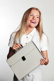 Business woman with a briefcase Stock Image