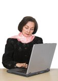 Business woman browsing on laptop 4 Stock Image