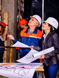 Business woman in builder helmet Stock Photography