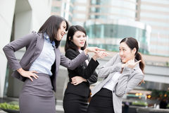 Business woman bullying Royalty Free Stock Image