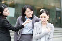 Business woman bullying. Businesswoman bullying in office, asian Stock Photos