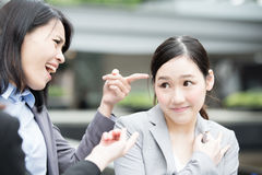 Business woman bullying Royalty Free Stock Photo