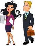 Business woman and business man Royalty Free Stock Photography