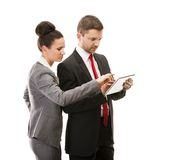 Business woman and business man Stock Photography