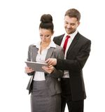 Business woman and business man Royalty Free Stock Photos