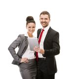 Business woman and business man Royalty Free Stock Photo