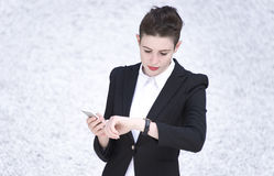 Business woman ,Business and time management concept. Royalty Free Stock Photo