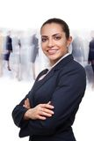 Business woman and busy crowd Royalty Free Stock Photography