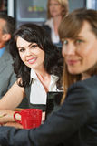 Business Woman in Cafe Stock Image