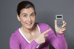 Business woman with calculator Stock Photography