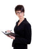 Business woman with calendar Royalty Free Stock Photography