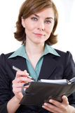 Business woman with calendar. Picture of a business woman with calendar Royalty Free Stock Image