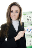 The business woman with a calendar Royalty Free Stock Photo