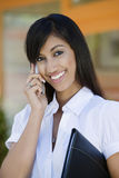 Business Woman On Call Royalty Free Stock Photos