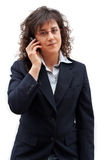 Business woman call. Business woman making call with mobile phone royalty free stock photos