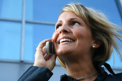 Business Woman - Call and Phone royalty free stock photography